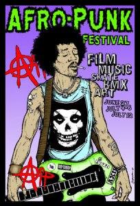 Original 'Afropunk' Festival poster 2009