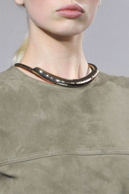 Jason Wu brass collar necklace