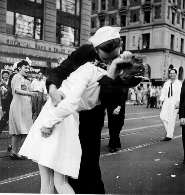 Kissing the War Goodbye | Times Square New York | Vintage Photo