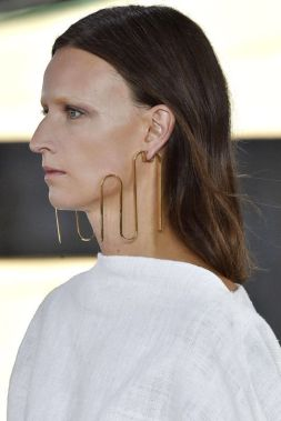 Loewe brass earrings