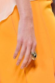 Nina Ricci ring of brass and precious gemstone