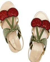 Miu Miu Cherry Flat Sandal
