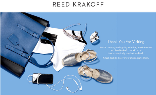 ReedKrakoff.com's new landing page. Screengrab: ReedKrakoff.com