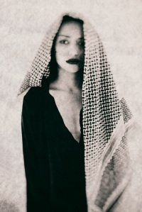 woman with arab keffiyeh