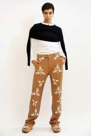 Beautiful jewel encrusted slacks, in Khaki, as you've never seen before