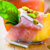 Eat Seasonally:  Peaches, Parma and Pistachios