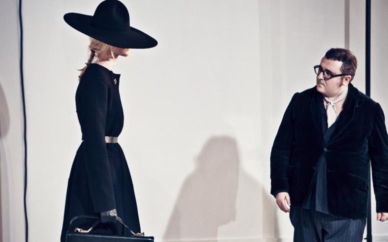 Alber Elbaz at model fitting backstage