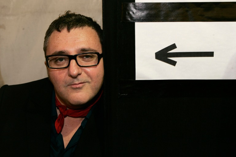 Alber Elbaz backstage.