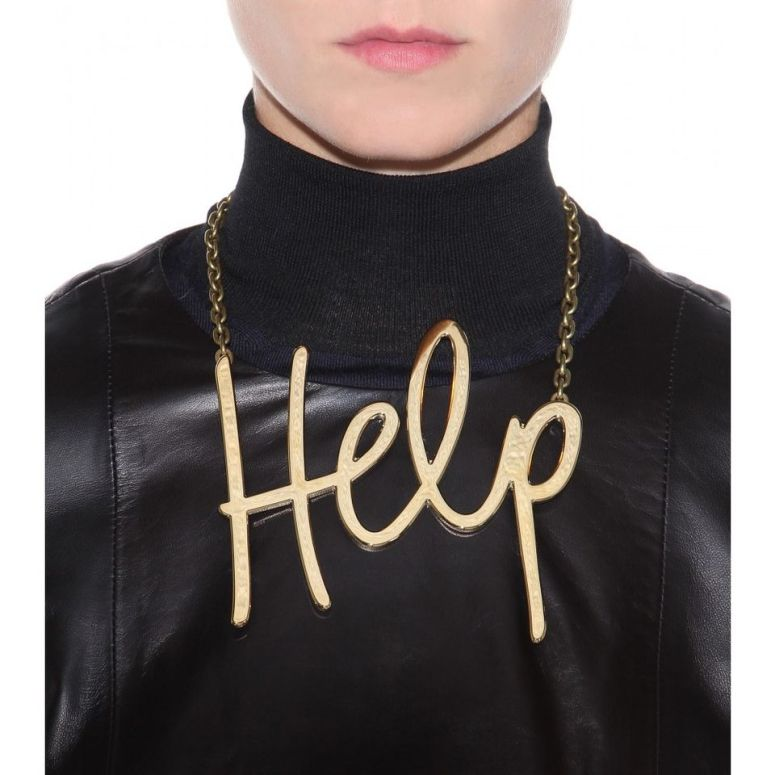 Lanvin, Fall 2014 nameplate necklace
