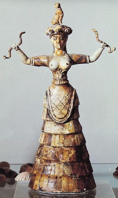 The Snake Goddess. Crete De Kretenzische